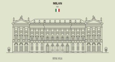 Royal Villa of Milan, Italy. Landmark icon