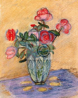 Obraz Róże na stole