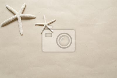 Obraz Rozgwiazda na brązowym papierze można używać jako ramki