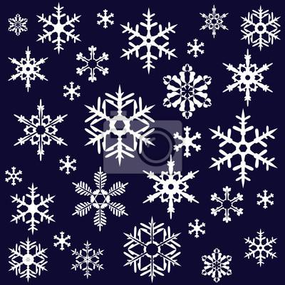 różne płatki śniegu
