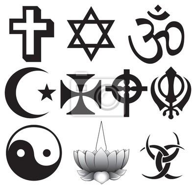 Obraz Greckie Znaki I Symbole Tatuaż Na Wymiar Grafika