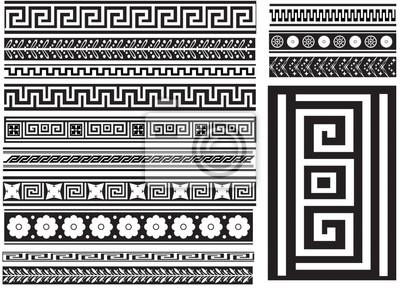 Różne rodzaje wzorców greckich bez szwu