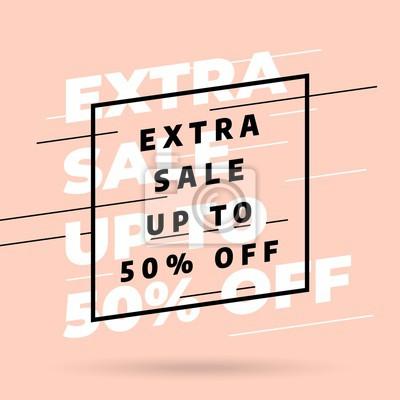 Różowa konstrukcja szablonu banner, oferta specjalna Big sprzedaży. Ilustracji wektorowych.