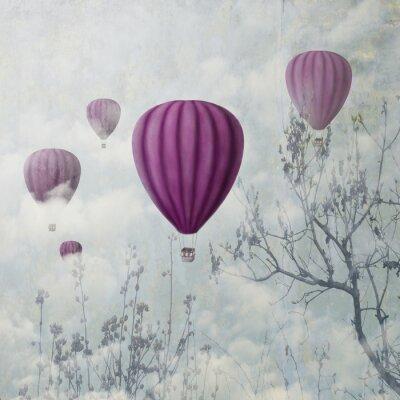 Obraz różowe balony