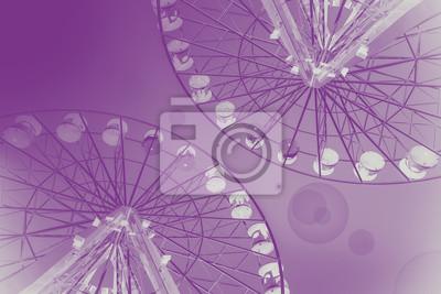 Różowy abstrakcyjna tła z Ferris kół.