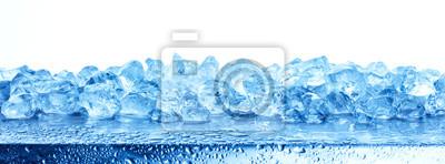 Obraz Rozsypisko odizolowywający na białym tle zdruzgotany lód