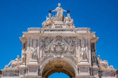 Rua Augusta Arch, położony pomiędzy ulicami Augusta i placu Commerce w Lizbonie, stolicy Portugalii