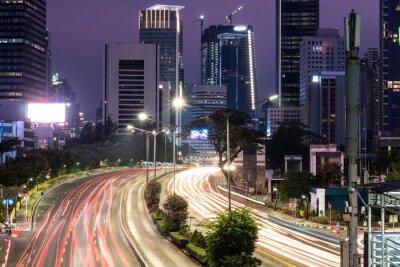 Ruch w Dżakarcie w Indonezji