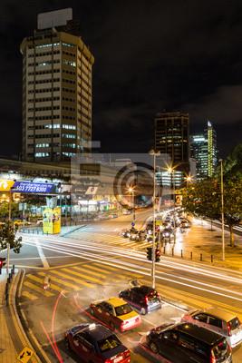 Ruch w nocy w Kuala Lumpur