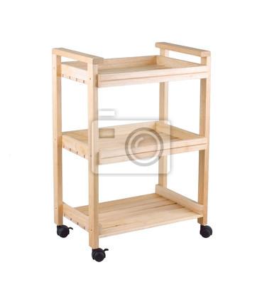 Ruchome Drewniane Półki Na Naczynia Do Przechowywania W Kuchni Obrazy Redro