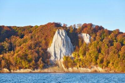 Rugen Island chalk cliffs at sunrise, Germany.