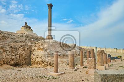 Ruiny rzymsko-rzymskie w Aleksandrii w Egipcie