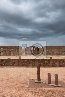 Ruiny Tiwanaku, Boliwia, Ameryka Południowa