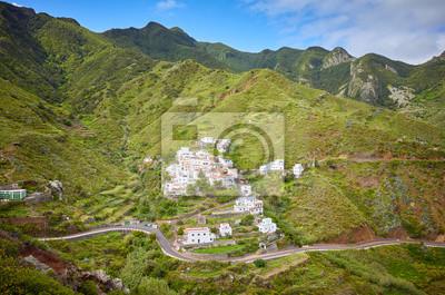 Rural mountain landscape of Taganana village, Tenerife, Spain.