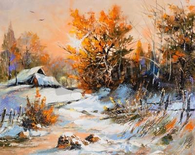 Obraz Rural winter landscape