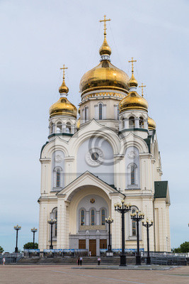 Russian Orhodox Cathedral in Khabarovsk, Russia