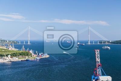 Russkiy Bridge, Vladivostok, Russia