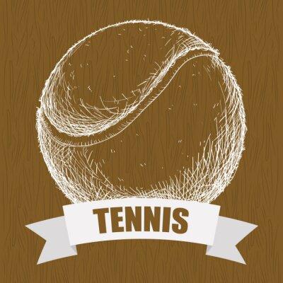 Obraz Rysowania tennis balle