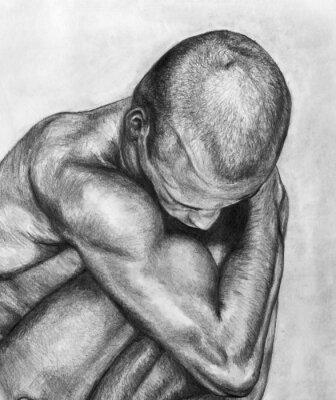 Obraz rysunek człowiek