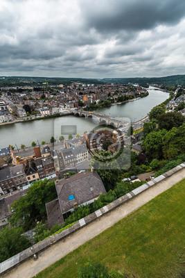 Rzeka Meuse przez Namur, Belgia