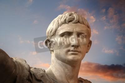 Obraz Rzeźba cesarza Trajano Rzymu, Sztuki Starożytnej