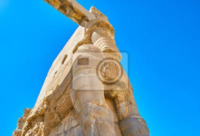 Rzeźbiona brama Kserkses w Persepolis, Iran