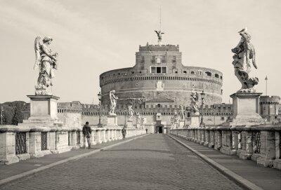 Obraz Rzym - Anioły most i zamek w godzinach porannych