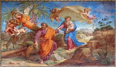 Obraz Rzym - Lot do Egiptu fresku w Basilica di Sant Agostino