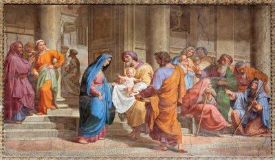 Obraz Rzym - Prezentacja w świątyni - Bazylika Sant Agostino w