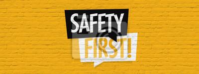 Obraz Safety first on brick wall