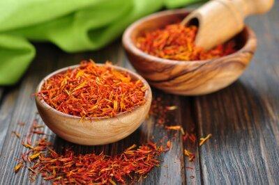 Obraz Saffron na tle drewniane