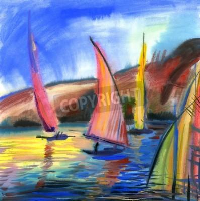 Obraz Sailing boats in the sea