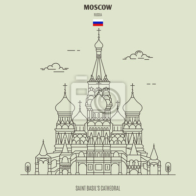 Saint Basil's Cathedral in Moscow, Russia. Landmark icon