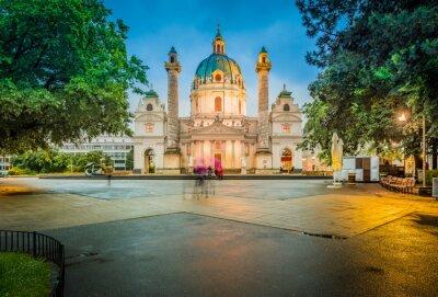 Obraz Saint Charles Church in Vienna, Austria.