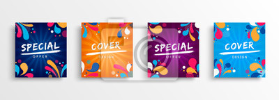 Obraz Sale and design background set with colorful art