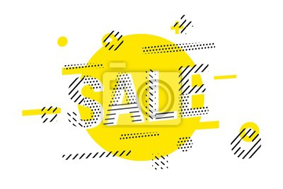 Sale banner template design. Best offer vector illustration.