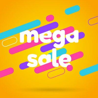 Sale banner template design. Mega sale best offer. Vector illustration.