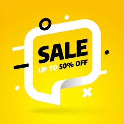 Sale banner template design. Special offer. Vector illustration.