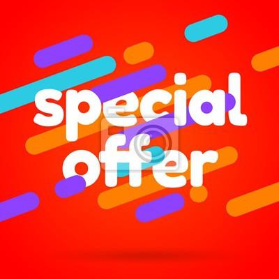 Sale banner template design. Special offer vector illustration.