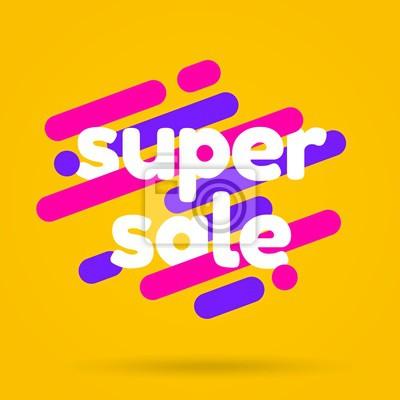 Sale banner template design. Super sale best offer. Vector illustration.