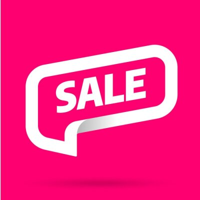 Sale banner template design with bubble. Big sale best offer. 3D paper tape vector illustration.