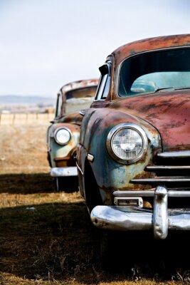 Obraz samochody zabytkowe wersja pionowa