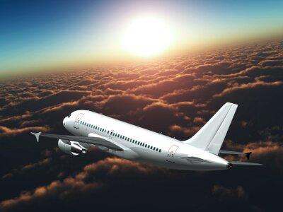 Obraz Samolot i słońce