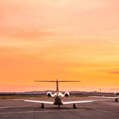 Obraz Samolot na zachód słońca