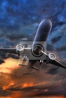 Samolot pasażerski startowa ilustracji