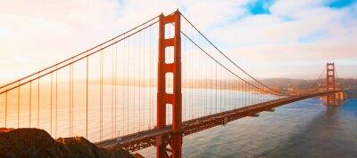 Obraz San Francisco's Golden Gate Bridge at sunrise from Marin County