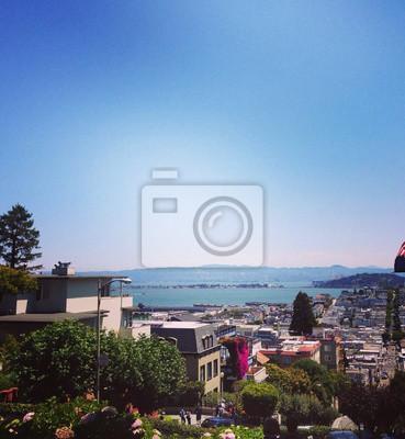 San Francisco Widok z Lombard Street