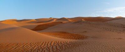 Obraz Sand Dunes In Desert Against Sky