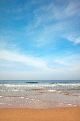 Sandy beach on a beautiful sunny day.