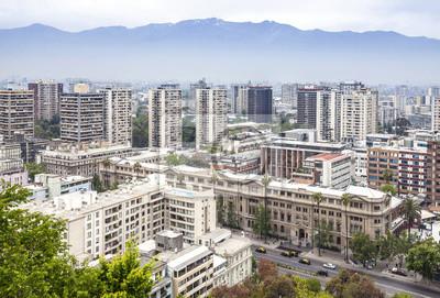 Santiago de Chile panoramę miasta.